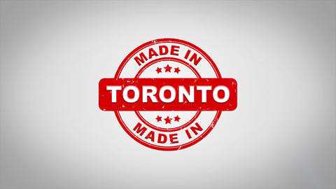 Made In TORONTO Signed Stamping Text Wooden Stamp Animation CG動画素材