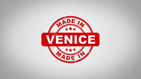 Made In VENICE Signed Stamping Text Wooden Stamp Animation Animation
