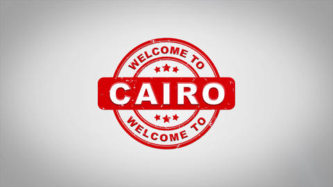 Welcome to CAIRO Signed Stamping Text Wooden Stamp Animation Animation