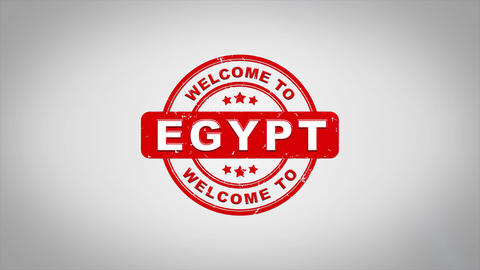 Welcome to EGYPT Signed Stamping Text Wooden Stamp Animation Animation