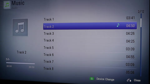Playing tracks from audio cd Footage