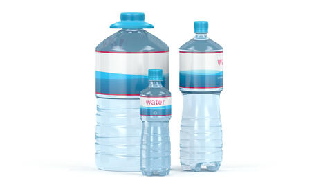 Water bottles with different sizes GIF