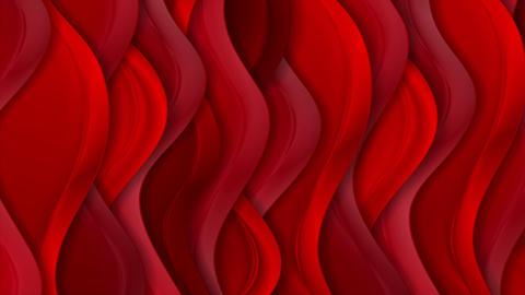 Bright red abstract silk wavy pattern video animation Animation