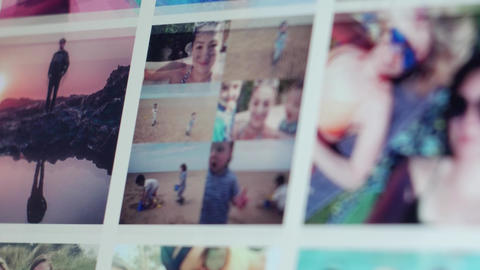 User browsing summer themed instagram posts from computer screen Footage