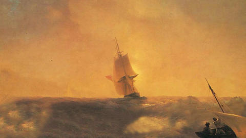 3D Animated Classical Painting HD - Ivan Aivazovsky -Rescue from Shipwreck CG動画素材