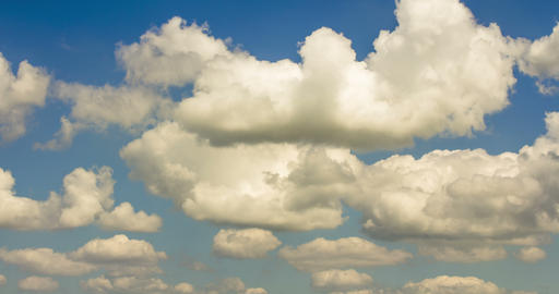 Beautiful clouds with blue sky background. Nature weather, cloud blue sky Live Action