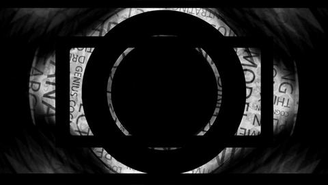 Dark Geometry and Text Mix Animation