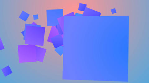 Colorful background from entertaining squares Animation