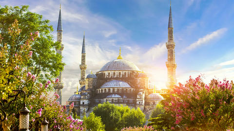 Cinemagraph - Sultan Ahmed Mosque (Blue Mosque), Istanbul, Turkey Footage
