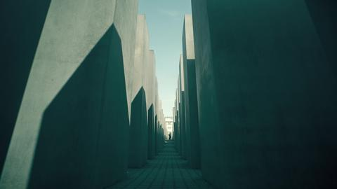 BERLIN, GERMANY - APRIL 30, 2018. Memorial to the Murdered Jews of Europe フォト