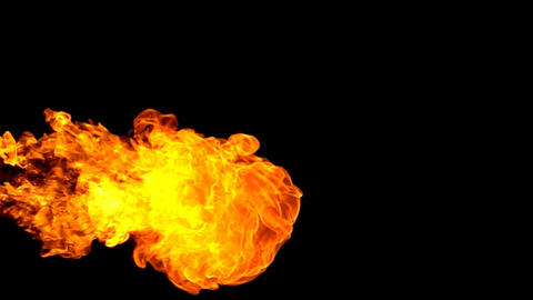 Fire flamethrower on black background slow motion Footage