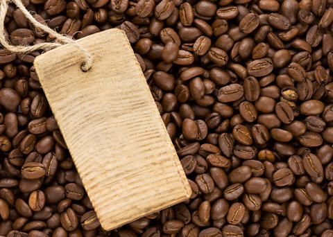 coffee beans and price tag Photo