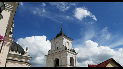 beautiful church cloudy timelapse GIF