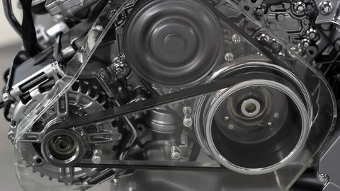 Car engine belt detail Footage