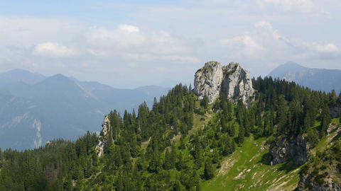 Mountain landscape in Bavarian Alps, Germany Footage