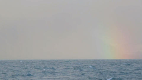 Rainbow Over The Ocean stock footage
