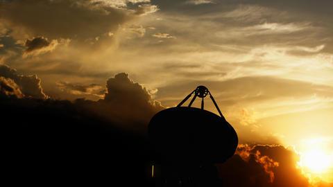 Radio telescope, communication facility Animation