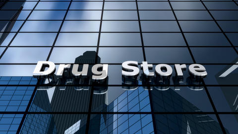 Drug store building Animation
