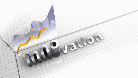 Growing chart Innovation, statistic and data Animation