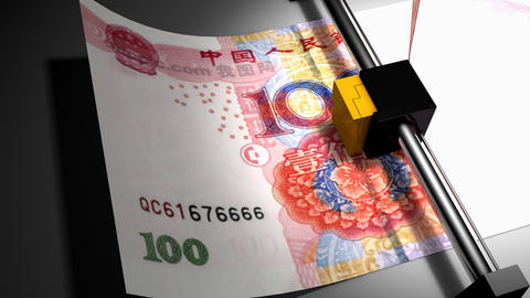 Concept animation, RMB money printer Animation