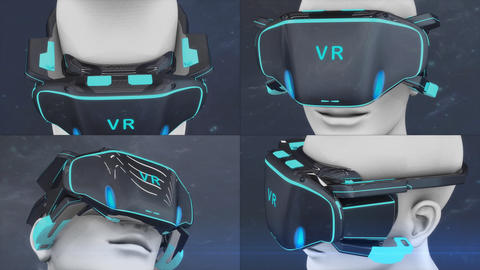 Artist concept Virtual Reality headset Animation
