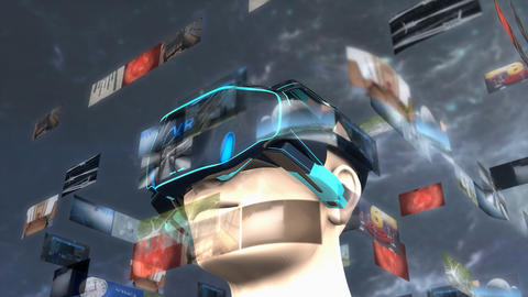 Artist concept Virtual Reality headset Animation