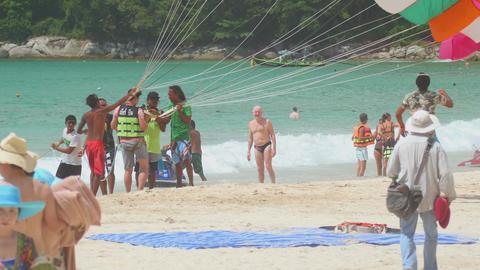 Parasailing on Phuket Footage