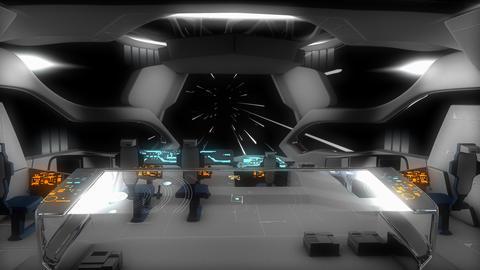 Spaceship light speed travel Animation