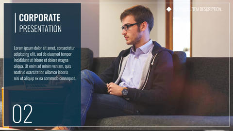 Clean Corporate Presentation Premiere Pro Template