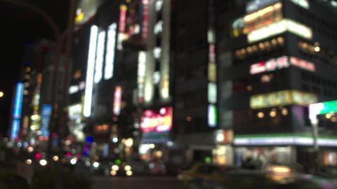 On-board - View of Tokyo Shinjuku Kabuki-cho downtown on the weekend at night Footage