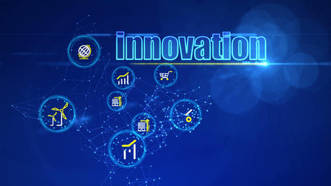 Investment Backdrop with Innovation Buttons Animation