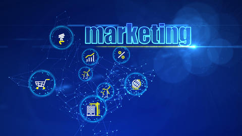 Investment Backdrop with Marketing Buttons Animation