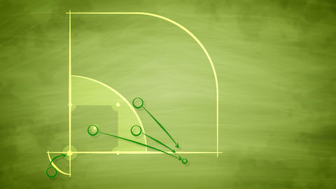 American baseball field scheme for players Animation