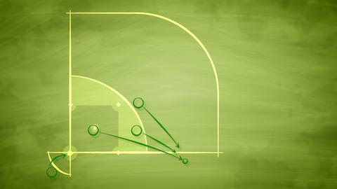 American baseball field scheme for players CG動画素材