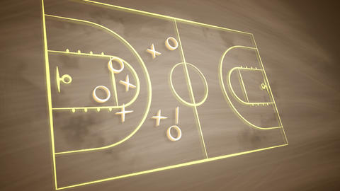 Basketball field tactics with crosses and zeroes Animation