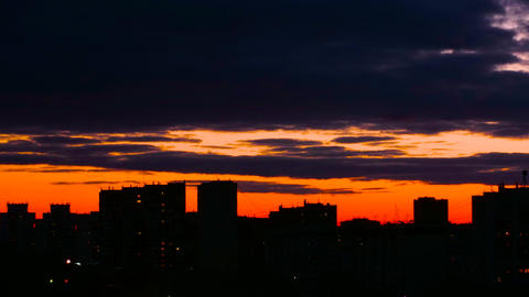 Timelapse sunset on cityscape skyline background Footage