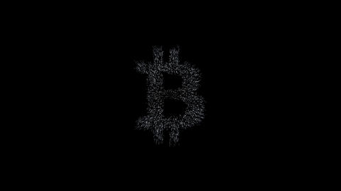 bitcoin symbol, million particulars make bitcoin symbol in space Animation