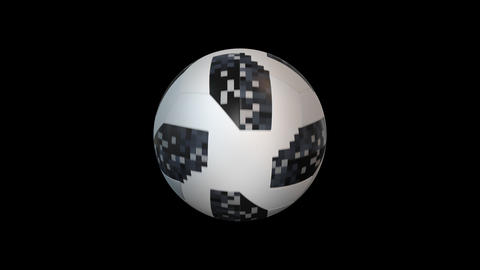 Soccer ball rotation with alpha, looped CG動画素材