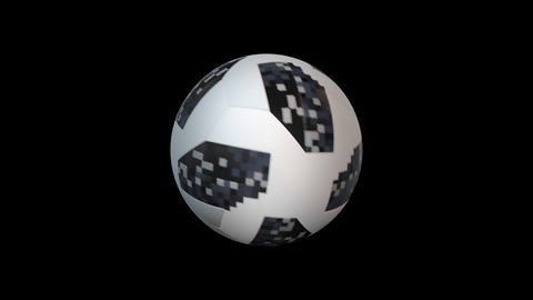 3d render soccer ball element with alpha, looped GIF