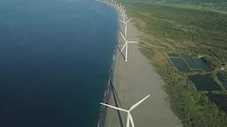 Solar Farm with Windmills. Philippines, Luzon Footage