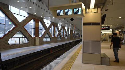 Odakyu railway limited express train, Romancecar, for Hakone Footage