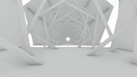 Walk through to abstract futuristic architect Animation