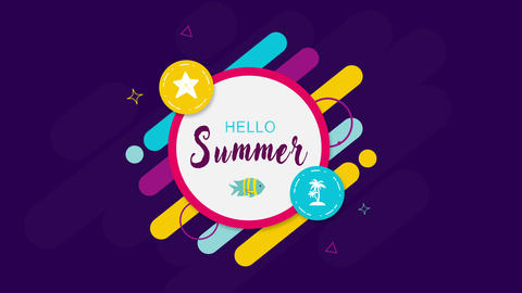 Intro Hello Summer Animation