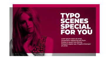 Typo Scenes With Transitions 2 Premiere Proテンプレート