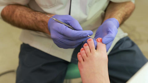 Feet care procedure, medical pedicure, pedicure with machine Live Action