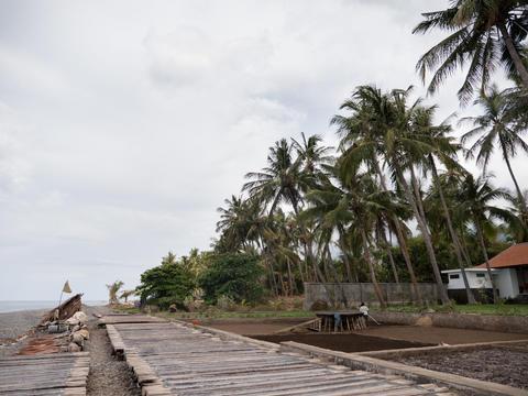 Salt production in Bali Photo