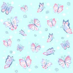 Pink butterfly in the blue seamless pattern ベクター