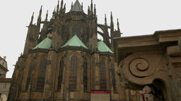 Camera slide to rear of St Vitus Cathedral ビデオ