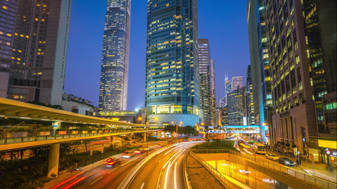 Time Lapse video of Hong Kong city day to night Timelapse 4K Footage