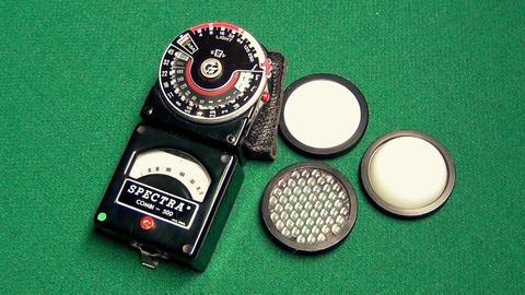 Professional exposure meter Footage